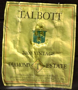 Talbott Chardonnay Diamond T Estate 2000