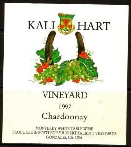 Talbott Chardonnay Kali Hart Vineyard 1997