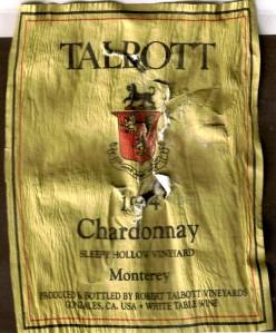 Talbott Chardonnay Sleepy Hollow 1994