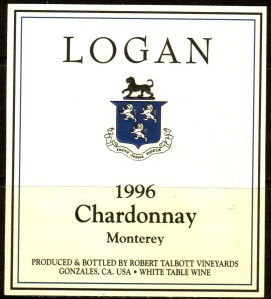 Talbott Logan Chardonnay Monterey 1996