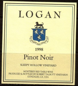 Talbott Logan Pinot Noir Sleepy Hollow 1998