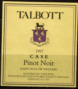 Talbott Pinot Noir Case Sleepy Hollow 1997