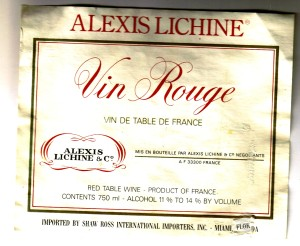 Vin Rouge Lichine