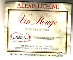 Vin Rouge Lichine