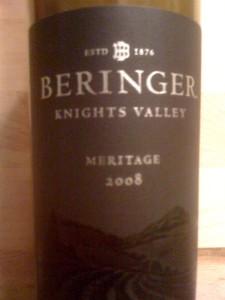 Beringer Meritage Knights Valley 2008