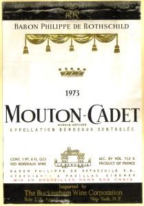Mouton-Cadet Boredeaux 1973