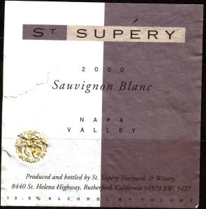 St. Supery Sauvignon Blanc Napa 2000