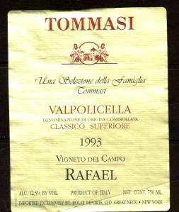 Tommasi Valpolicella Classico Superiore 1993