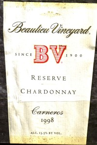 Beaulieu Vineyard Reserve Chardonnay Carneros 1998