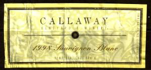 Callaway Sauvignon Blanc 1998
