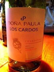 DonaPaula Los Cardos Chardonnay Mendoza 2011