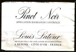 Louis Latour Pinot Noir Burgundy