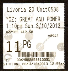 MI OZ ticket