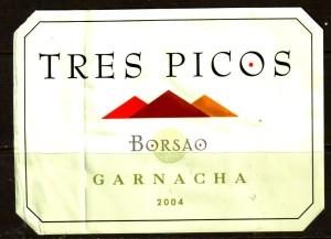 Tres Picos Garnacha 2004