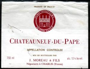 Chateauneuf Du Pape Moreau