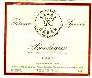 Domaines Bar de Rothschild RS B