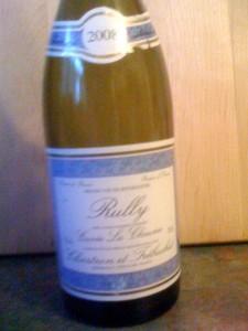Rully Cuvee La Chaume 2008