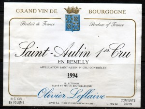Saint-Aubin 1erCru En Remilly 1994