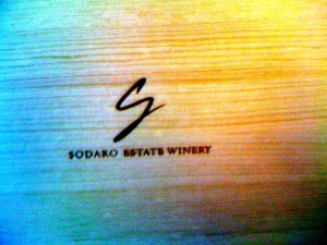 Sodaro Estate Winery Box Lid