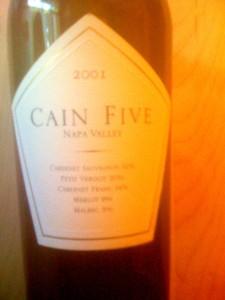 Cain Five Napa 2001
