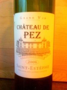 Ch de Pez Saint-Estephe 2006