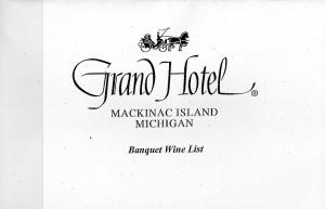 GH Banquet Wine List