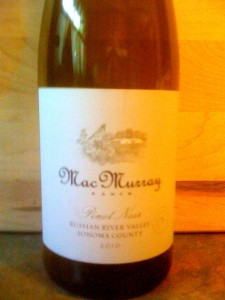 MacMurray Ranch Pinot Noir Russian River 2010