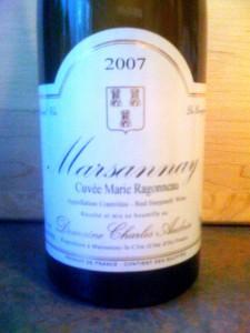 Marsannay Cuvee Marie Ragonneau 2007