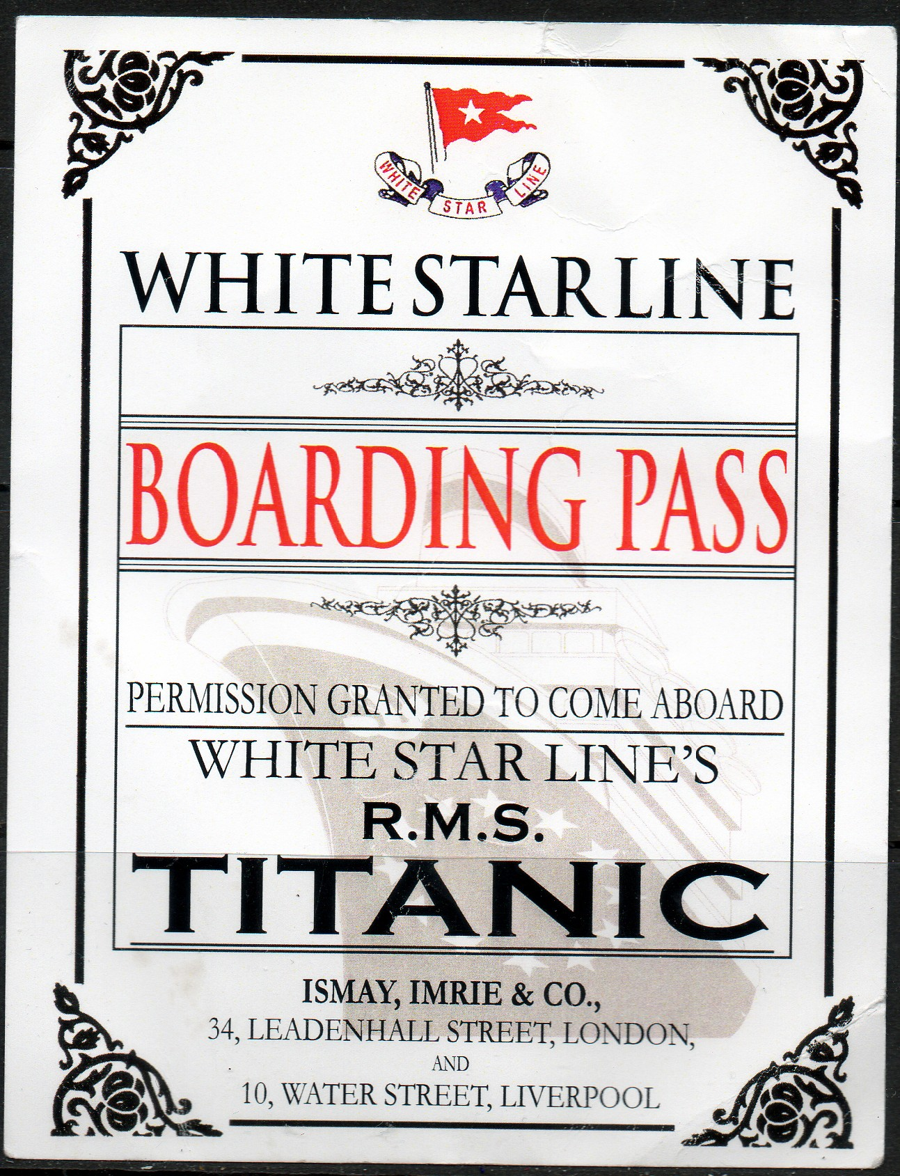 Titanic boarding pass printable pictures to pin on pinterest somewhere pronofoot35fo Images