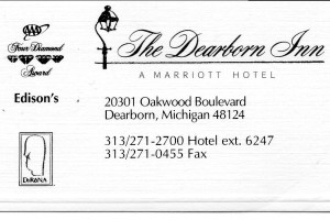 MI The Dearborn Inn BC