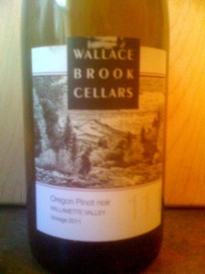 Wallace Brook Cellars Pinot Noir Willamette Valley 2011