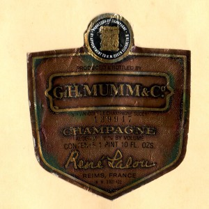 GH Mumm & Co Champagne Reims NV