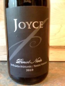 Joyce Pinot Noir Tondre Vineyard 2010
