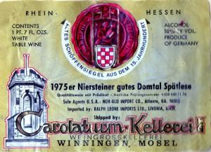 Niersteiner gutes Domtal Spatlese 1975