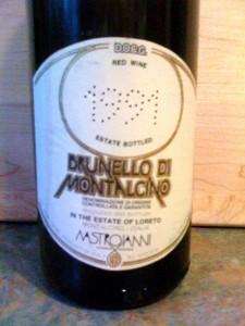 Brunello di Montalcino Loreto Mastrojani 1991