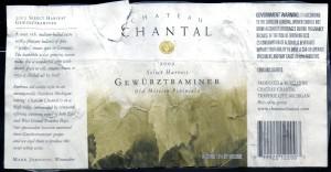 Ch Chantal Gewurztraminer 2002