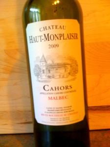 Ch Haut Monplaisir Malbec Cahoors 2009