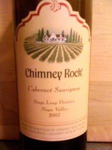 Chimney Rock Cabernet Sauvignon 2003