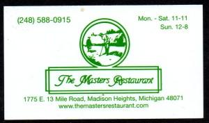 MI The Masters Restaurant BC