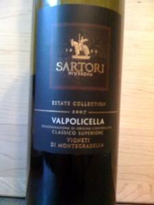 Sartori Valpolicella 2007