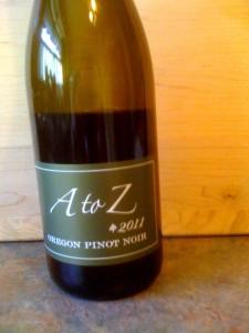 A to Z Pinot Noir Oregon 2011