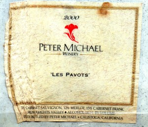 Peter Michael Les Pavots 2000 Label