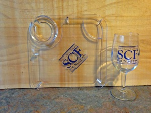 SCF Tray and Glass