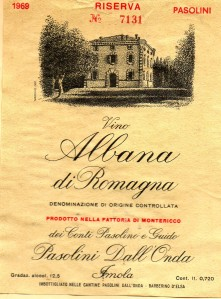 Albana di Romagna Pasolini 1969