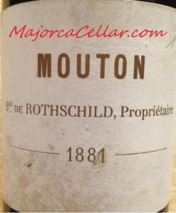 Ch. Mouton Rothschild 1881