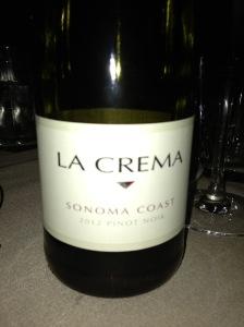 La Crema Pinot Noir Sonoma Coast 2012