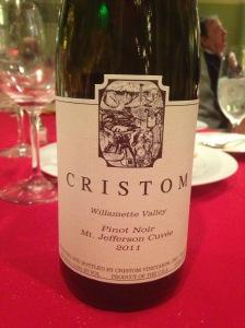 Cristom Mt Jefferson Cuvee Pinot Noir 2011