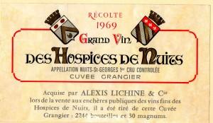 Hospices de Nuits Cuvee Grangier 1969