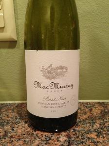 MacMurray Ranch Pinot Noir 2011