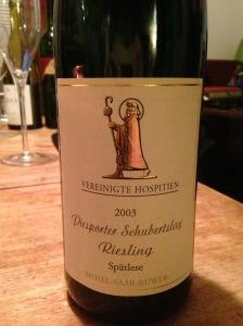 Piesporter Schubertslay Riesling Spatlese 2003